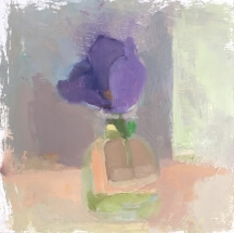 purple lisianthus in vase